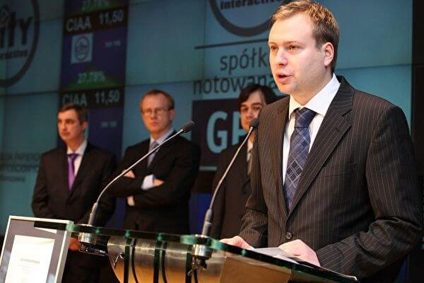 Marek Tymiński prezes City Interactive