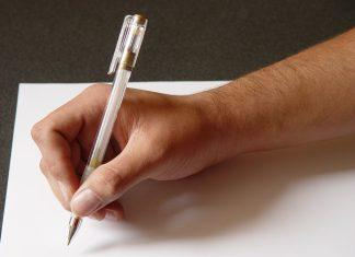 list pisanie