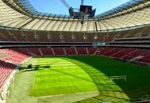 Stadion Narodowy w Warszawie_widok z części biurowej na terenie obiektu