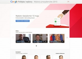 Google strona wybory 2015