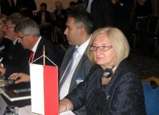 Fot. Wiceminister Zofia Szalczyk podczas spotkania ministrów rolnictwa w Sofii
