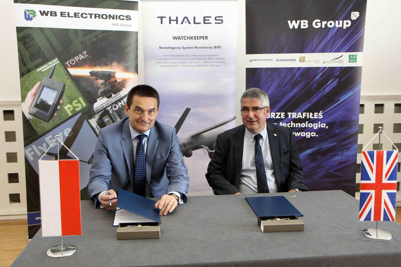 Dnia 8 lipca WB Electronics i Thales podpisały porozumienie o współpracy w dziedzinie systemów bezzałogowych