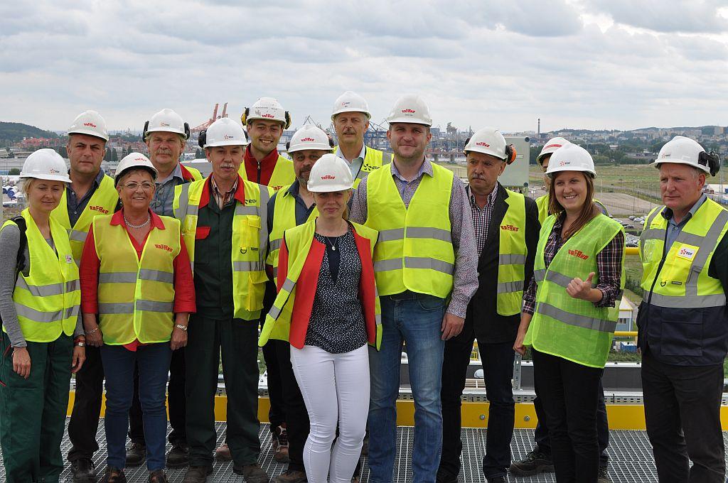 Zespół realizujący inwestycję w Elektrociepłowni Gdyńskiej EDF Polska