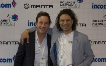 Organizator Rafał Wójcicki (po prawej), fot. Poland IT Meeting