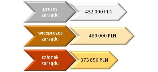Roczne wynagrodzenia brutto osób pełniących różne funkcje w zarządach spółek IT (osoby pracujące cały 2014 rok)