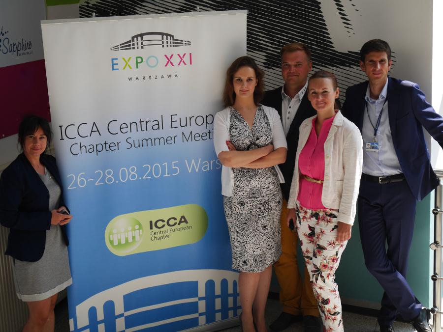 Zespół EXPO XXI Warszawa podczas konferencji ICCA Central European Chapter Summer Meeting