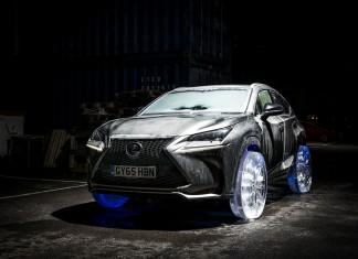Lexus NX 300h na lodowych kołach