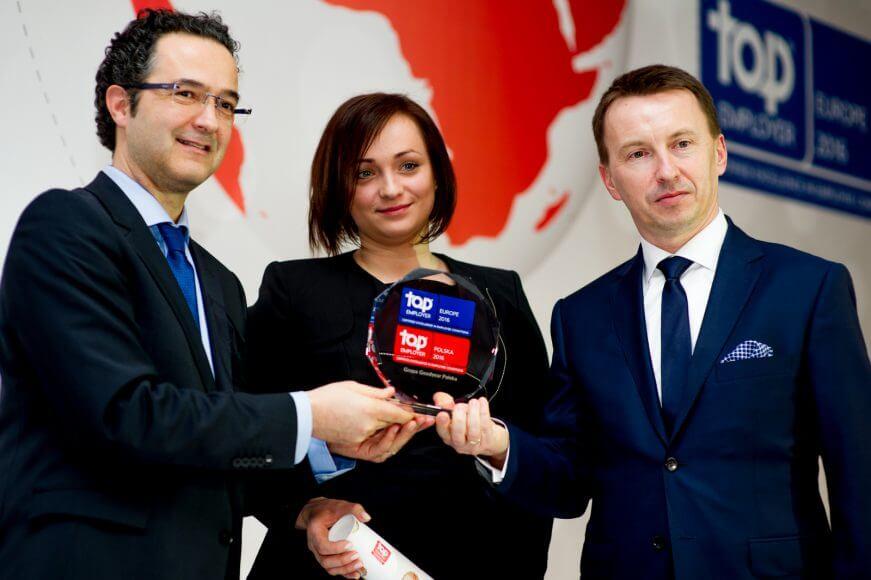 Po raz czwarty z rzędu Goodyear uhonorowany tytułem Top Employer Europe