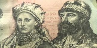 Mieszko I i Dobrawa na banknocie kolekcjonerskim