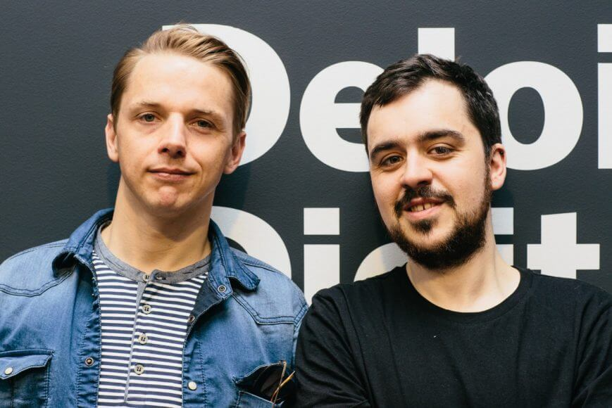 Adam Sierociński i Antoni Kamiński w Deloitte Digital