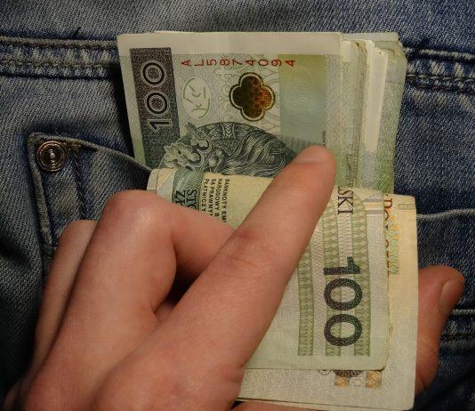 pieniądze złotówki PLN oszczędności 100