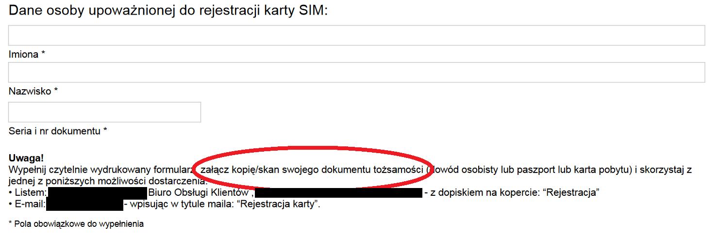 rejestracja sim