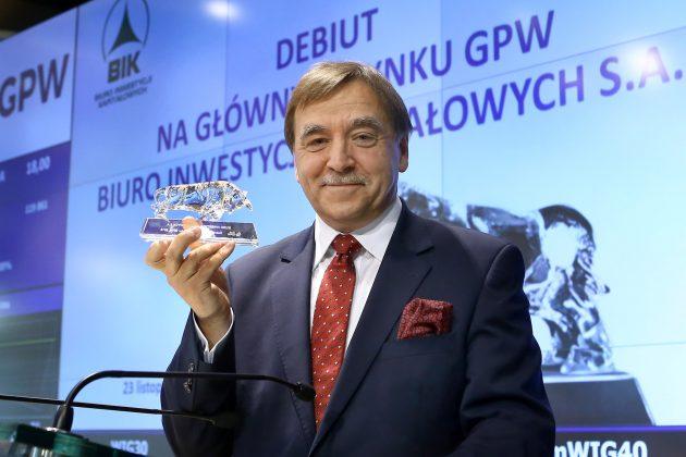 Mirosław Koszany, Prezes Biura Inwestycji Kapitałowych S.A.