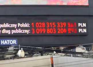 dług publiczny zegar