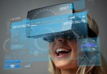 technology, augmented reality, entertainment and people concept