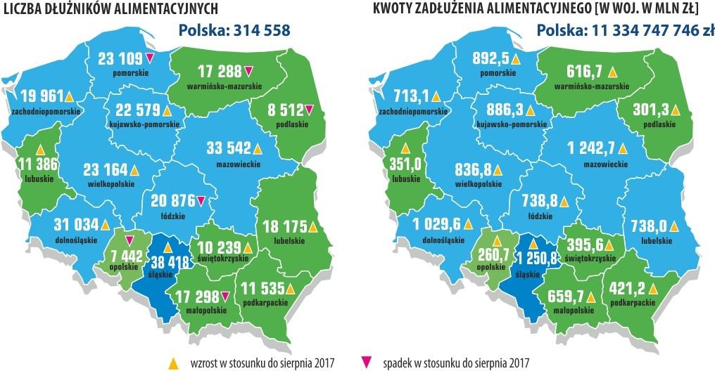 Zaległości alimentacyjne Polaków 4