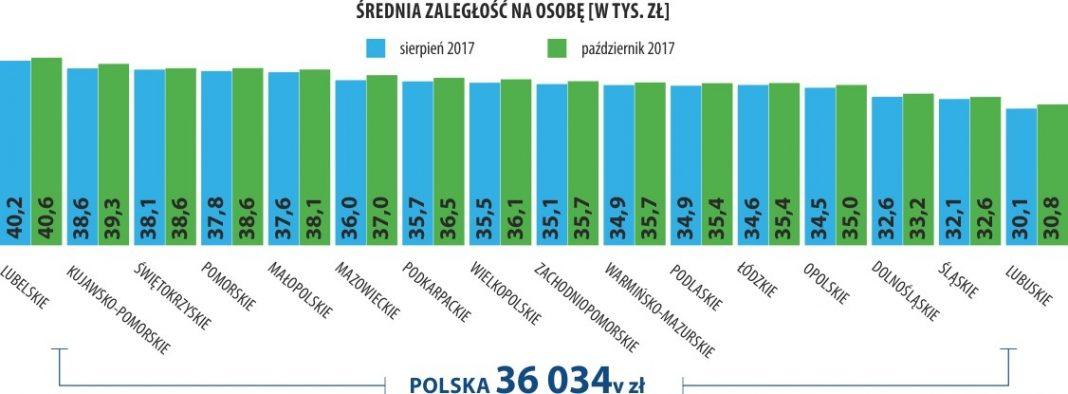 Zaległości alimentacyjne Polaków 6