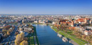 Krakow Skyline in Fall