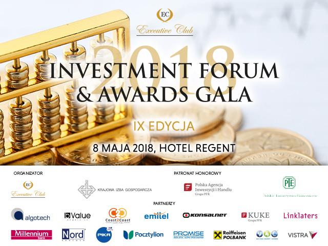 "IX edycja ""Investment Forum & Awards Gala"","