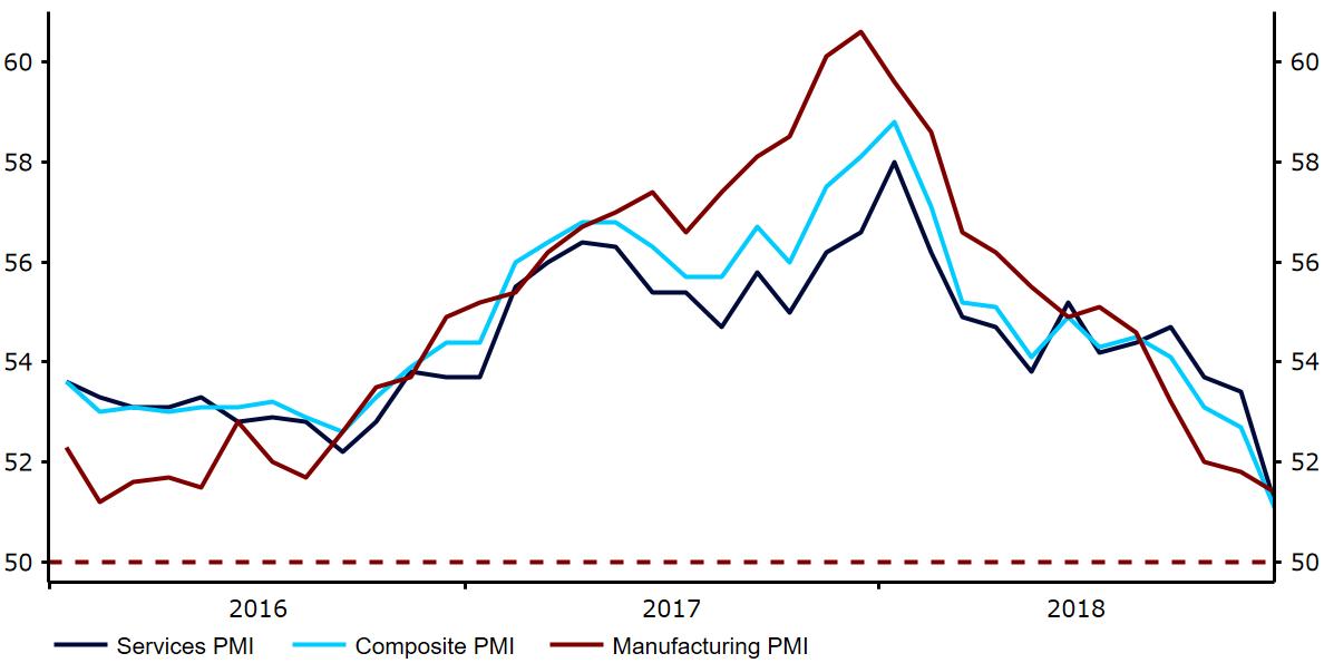 Indeksy PMI w strefie euro