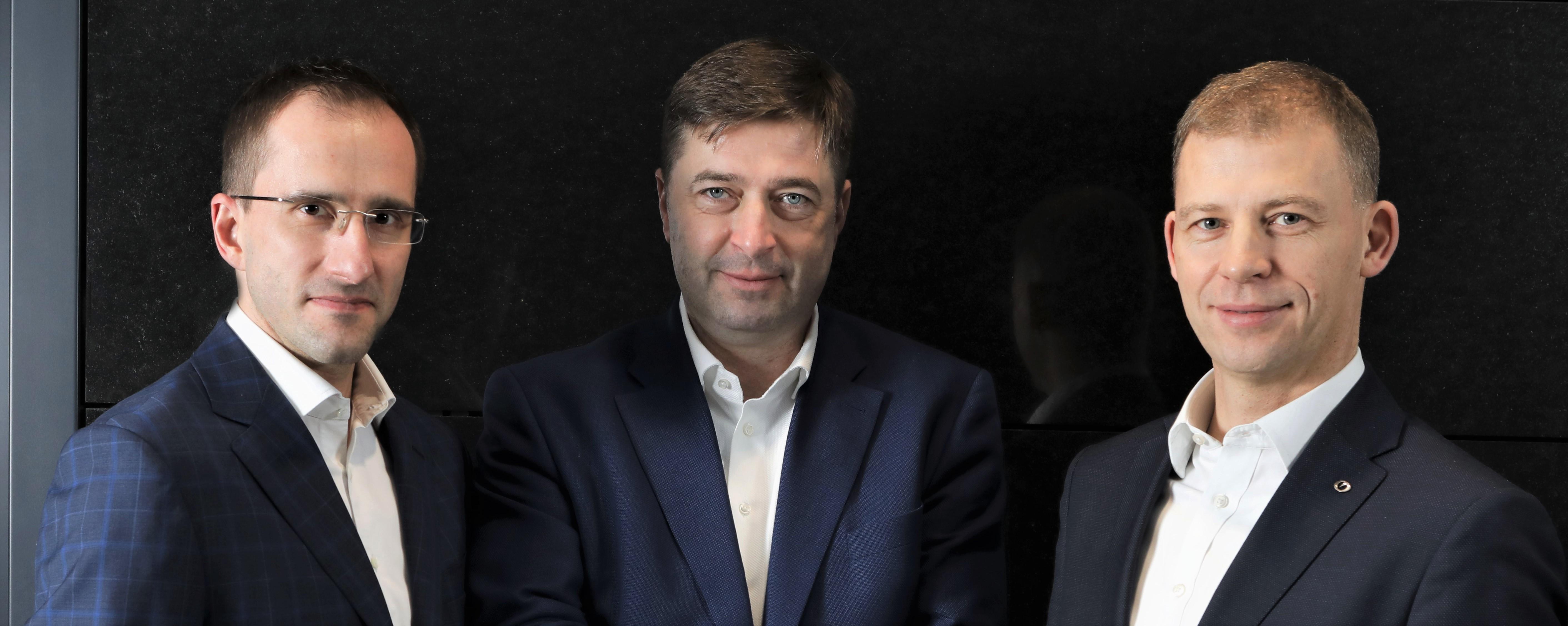 Grupa MAK-STBU. Od lewej – Bartosz Grześkowiak, Andrzej Wasilewski, Adam Lewandowski
