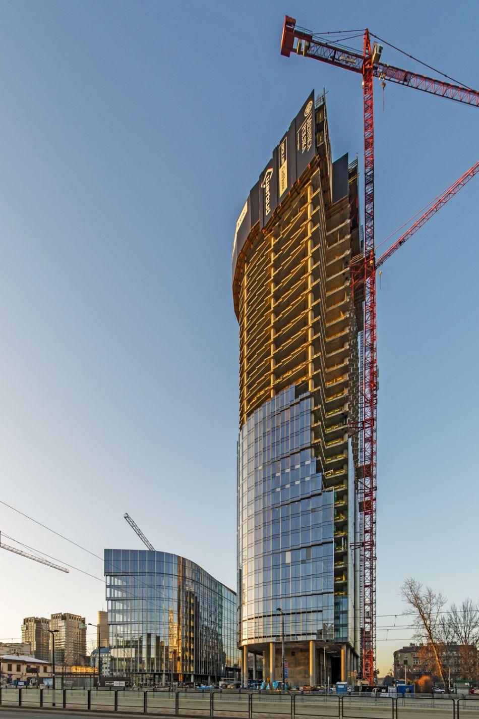 Mennica Legacy Tower_budowa 1