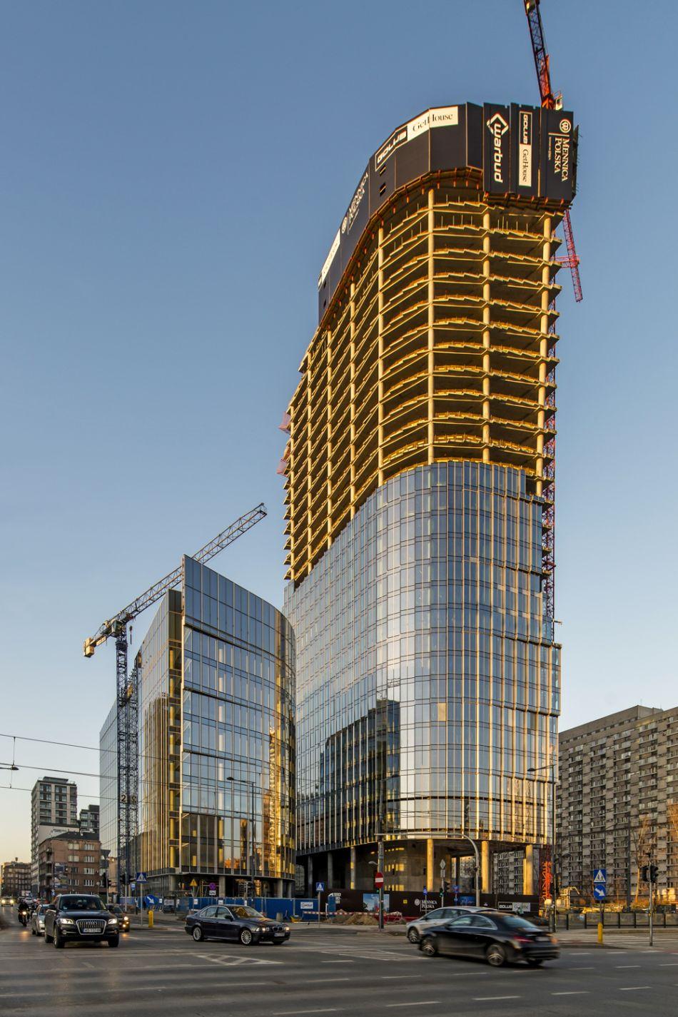 Mennica Legacy Tower_budowa 3