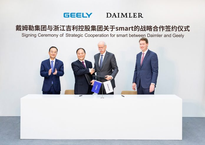 Daimler und Geely Holding gründen ein globales Joint Venture zur Weiterentwicklung von smart Daimler and Geely Holding form global joint venture to develop smart
