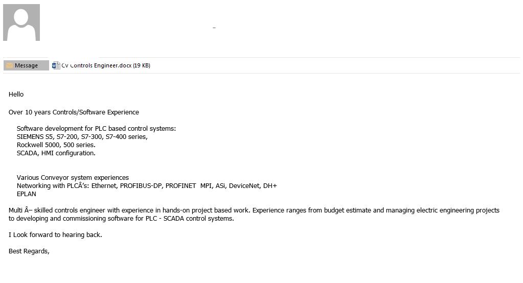 Przykład maila wykorzystującego phishing.