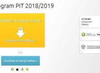 e-Deklaracja PIT za 2018 online