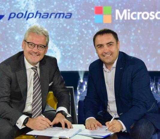 Mark Loughran, Dyrektor Generalny polskiego oddziału Microsoft, Markus Sieger, Prezes Grupy Polpharma
