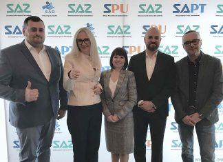 Nowy zarząd SAZ, od lewej: Michał Podulski, Iwona Szmitkowska, Aneta Janik-Barciś, Maciej Kopaczyński, Krzysztof Jakubowski.