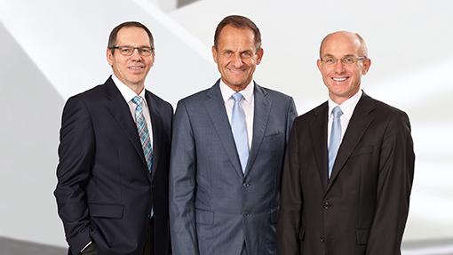 Od lewej: Thomas Stürzl, dyrektor finansowy, Alfons Hörmann, prezes zarządu, dr Harald Braasch, dyrektor ds. technologii Fot. Schöck