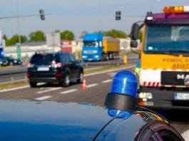 policja transport wypadek