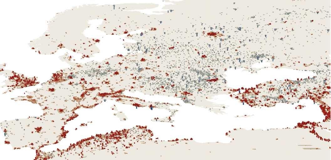 Wzrost populacji jest skoncentrowany w największych obszarach metropolitarnych