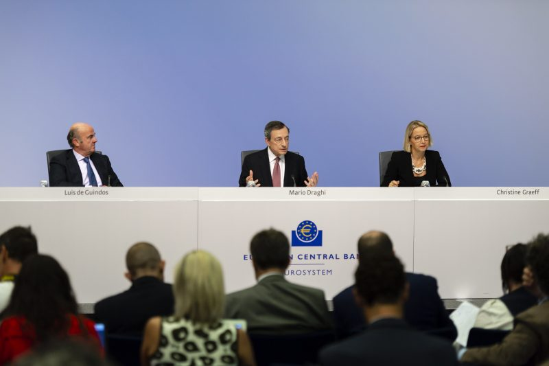 Konferencja prasowa prezes EBC Mario Draghi