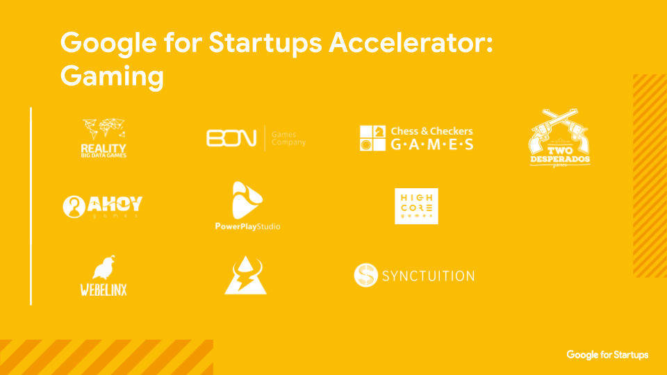 Google for Startups Accelerator gaming