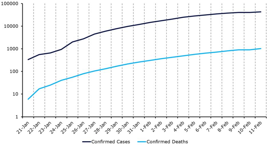 Potwierdzone zachorowania na koronawirusa oraz potwierdzone przypadki śmiertelne
