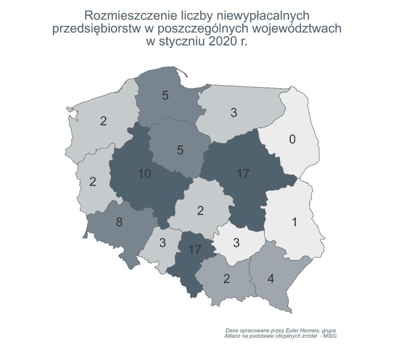W Polsce największa od siedmiu lat liczba niewypłacalności firm produkcyjnych 3
