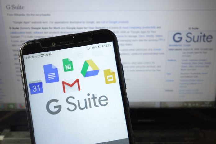 G Suite logo on mobile phone