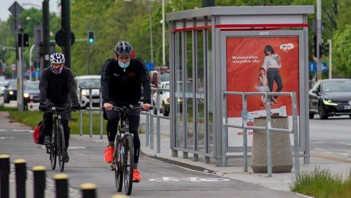 rower reklama zewnętrzna
