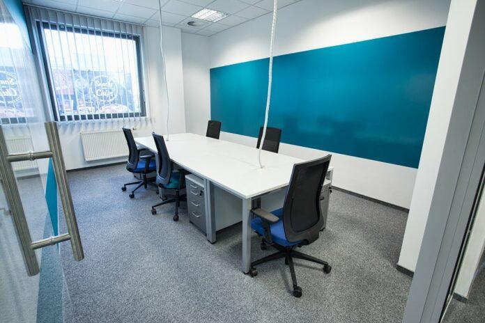biuro niebieskie