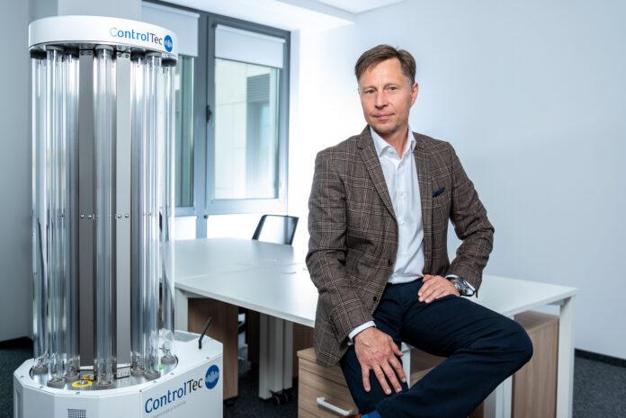 Grzegorz Góral, wiceprezes izałożyciel firmy ControlTec fot. Łukasz Giza