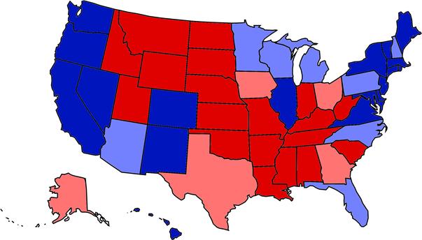 Mapa poparcia w wyborach prezydenckich w 2020 roku