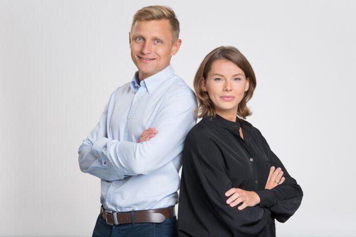 Założyciele Clicktrans: Michał Brzeziński i Agnieszka Korzeniewska