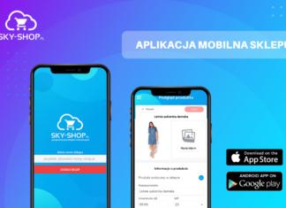 Sklep internetowy… na telefonie Z aplikacją mobilną Sky-Shop