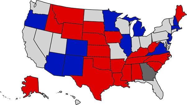 Mapa wyborów do Senatu USA