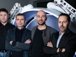 Od lewej dr inż Jacek Gruca, prof dr hab Mariusz Witek, dr inż Mateusz Moderhak, Michał Matuszewski