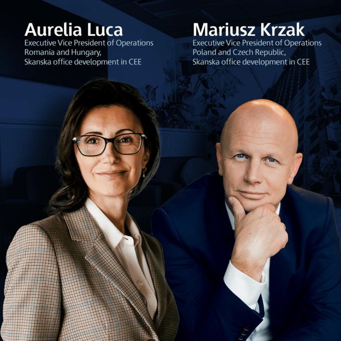 Mariusz Krzak Aurelia Luca Skanska zmiany w zarzadzie
