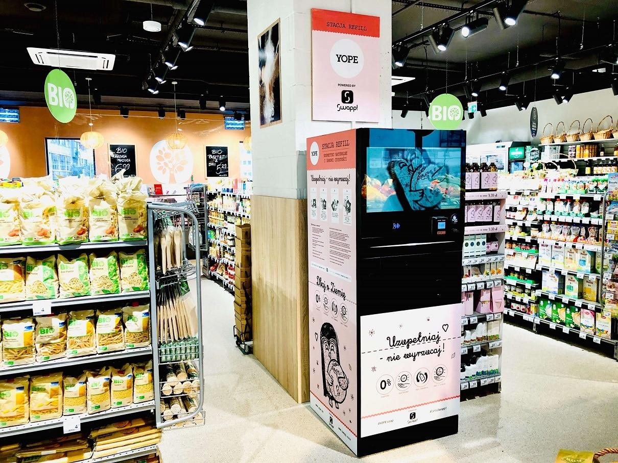 refillomaty w sklepie Carrefour